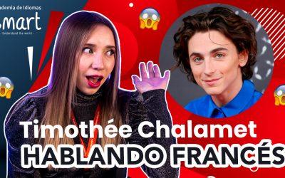Reaccionando al francés de Timothée Chalamet